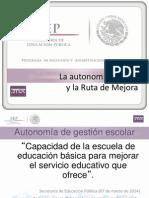 Autonomia Escolar Ruta de Mejora