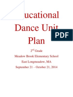 Dance Unit Plan
