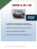 Rádio Receptor de FM e VHF