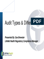 Audit Types Presentation - Sue Brewster