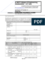 Feedback Form for Parents 9999995