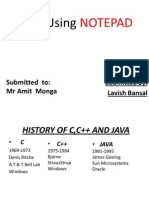 Notepad Using Java