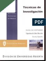 Técnicas de Investigacion-Optativas de Libre Eleccion