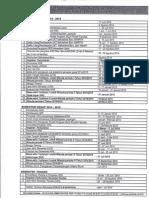 Kalender Akademik 2014-2015