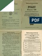 Pfaff 130 - Gebrauchsanleitung