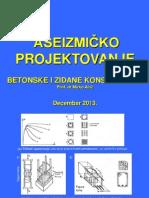 Aseizmicko Projektovanje Betonske i Zidane Dec 2007