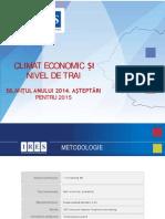 IRES_Bilantul Economic Al Anului 2014_Asteptari Pentru 2015