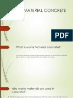 waste material concrete