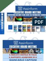 Presentazione Rapporto Assinform 2014