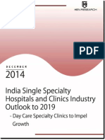India Single Specialty Hospital Industry Future Outlook -2019