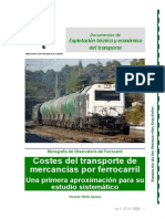 Costes Del Transporte de Mercancias