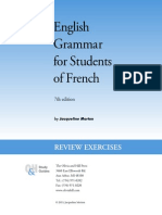 English Grammar for Students of French - Exercises