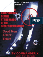 Commander-X-Swartz-Strange and Unexplainable Deaths at the Hands of the SecretGovernment