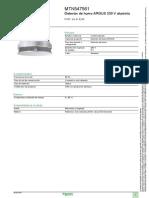 Detector de Humo ARGUS MTN547561