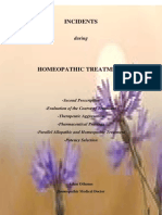 Incidents During Homeopathic Treatment