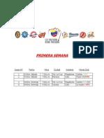Calendario Oficial Round Robin 2014-2015