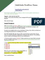 Multimedia Wordpress Theme Help