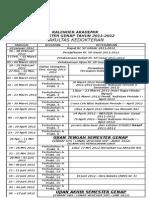 Kalender Akademik Semester Genap Tahun 2011-2012