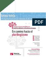 El Camino Hacia El Plurilinguismo Revista Nebrija