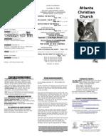 November 9, 2014 Trifold Bulletin