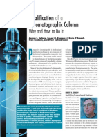 Qualification of a Chromatographic Column
