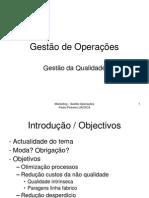 Gestão de Operações