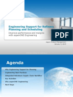 Engineering Support of Planning and Scheduling Revsion 81
