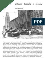 A Politica Externa Durante o Regime Militar