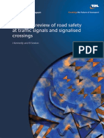 Literature Review of Road Safety at Traffic Signals and Signalised Crossings