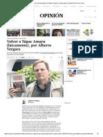 Volver a Túpac Amaru (Laicamente), Por Alberto Vergara _ Colaboradores _ Opinión _ El Comercio Peru