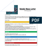 weekly news letter january 4th