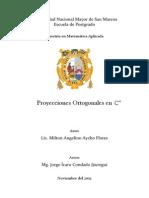 Proyecciones Ortogonales en Cn
