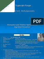 Tugas & Fungsi Dokter Perusahaan SA2014