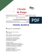 Revista Círculo de Fuego - Miguel Blásica