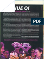 Avenue Q feature in RAGE magazine January issue