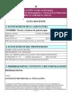 PROGRAMA DE ESTUDIOS PSICOLOGIA