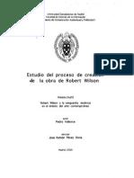 Proceso Creación Bob Willson