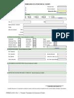Formulario de Atencion Al Cliente