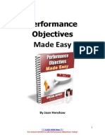 Performance Objectives Made Easy