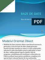BAZE de DATE Orientate Obiect