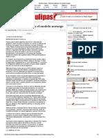 21-10-14 HoyTamaulipas - Palomeos políticos y el modelo noruego