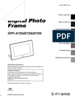 Sony Digital Photo Frame DPF-A72N/E72N/D72N