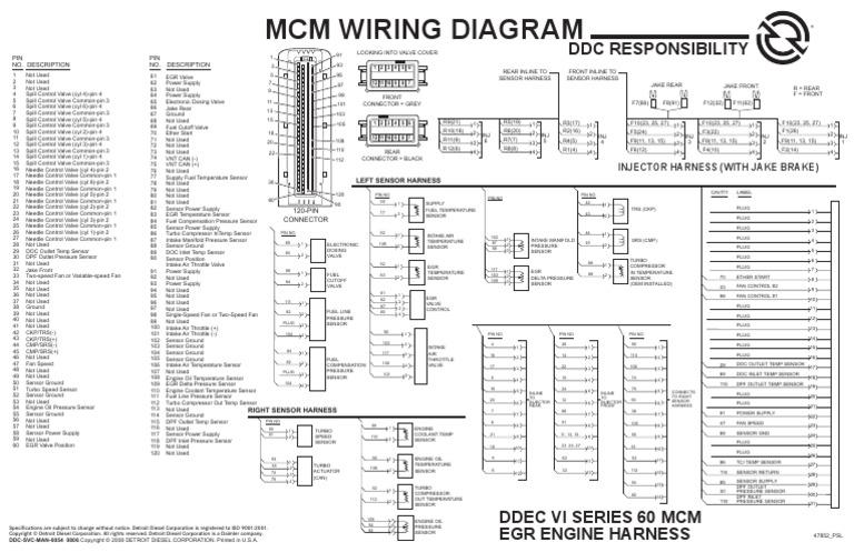 ddec vi wiring diagram wire center u2022 rh sischool co ddec 6 wiring diagram Kenworth T800 Wiring Diagram