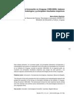 Indicadores de Innovación en Uruguay 1998-2000
