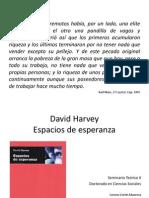 Sobre Espacios de Esperanza de David Harvey