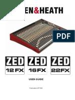 User Guide ZED ALLE&HEATH Mixer