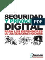 Seguridad y Privacidad Digital Para Los Defensores de Los Derechos Humanos (Frontline_2009)