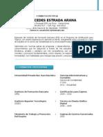 Curriculum Vitae Ana Mercedes Estrada Arnaa