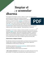 Cómo Limpiar El Karma y Acumular Dharma