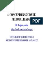 CONCEPTO BASICOS DE PROBABILIDADES